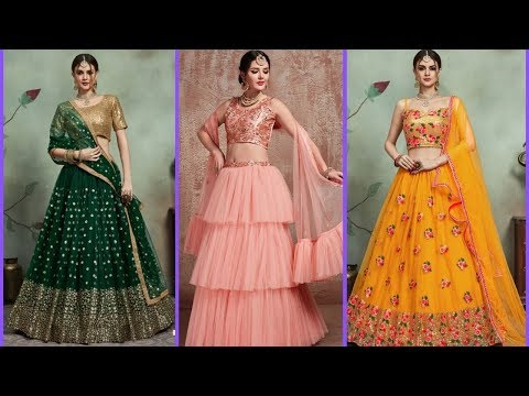 2020 Lehenga Choli Designs For Engagement Function With Price Youtube