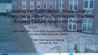 Educating the Public about Climate Change Threats Using Role-Play Simulations