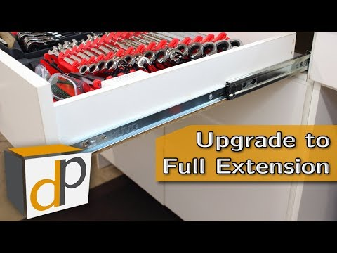 How To Upgrade Drawer Slides - Roller to Full Extension