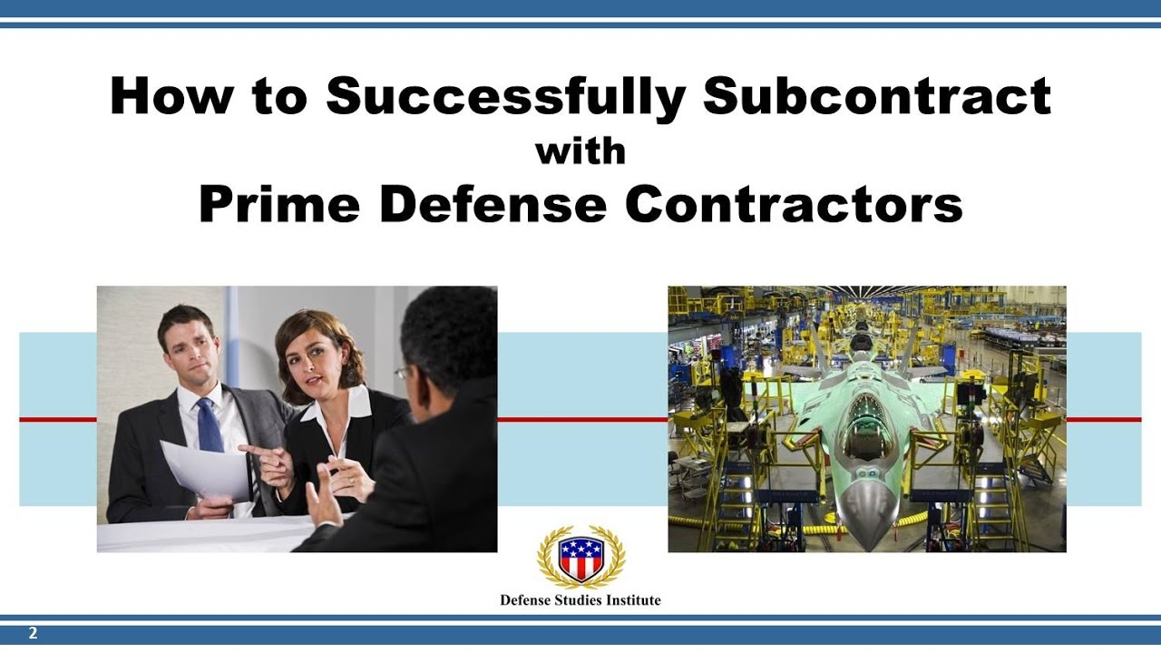 How To Successfully Subcontract With Prime Defense