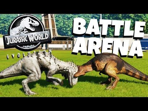 Dinosaur Battle Arena! - Jurassic World Evolution Gameplay