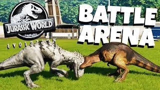 Dinosaur Battle Arena! - Jurassic World Evolution Gameplay