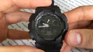 Обзор мужских часов Casio G-SHOCK GA-100-1A1 - видеообзор от PresidentWatches.Ru(В видео рассказывается об основных функциях часов Casio G-SHOCK GA-100-1A1 Интернет магазин President Watches http://presidentwatches.ru/..., 2014-04-29T07:28:33.000Z)