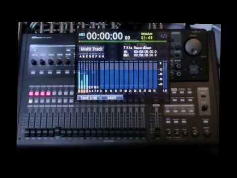 Tascam DP24/32SD Tutorial 8A: Recording