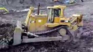 cat d9 caterpillar d9 in hard rock quarry