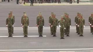 陸上自衛隊第302保安警務中隊 自衛隊中央観閲式(方面事前訓練)特別儀仗隊の入場による栄誉礼・ 観閲官退場及び儀仗隊退場The Salute of Guard of Honor