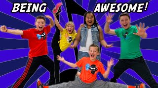 Being Awesome! Ninja Kidz Music Video (Lyrics)