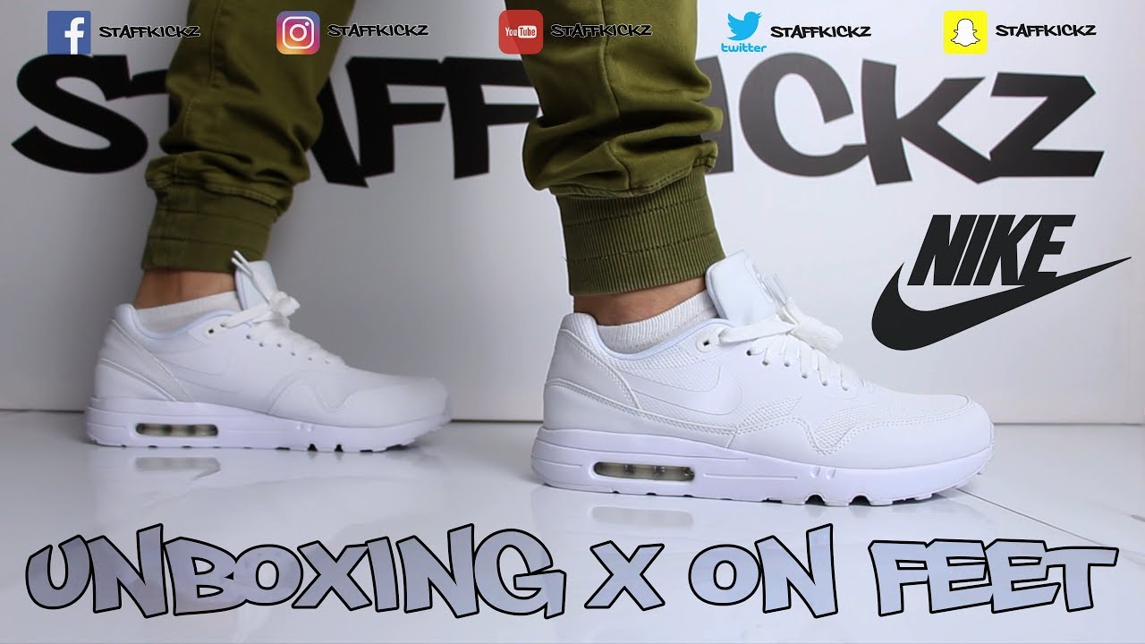 online retailer 0e280 bf98d Nike Air Max 1 Ultra 2.0 Essential White Weiß Unboxing   On Feet