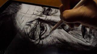 David Lynch drawing by Apple Pencil & iPad Pro