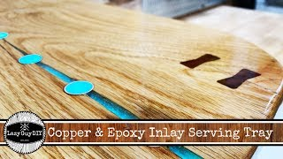 Copper & Epoxy Inlay Serving Tray