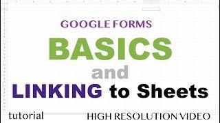 Google-Formulare mit Google Sheets Tabellenkalkulation, Wie Verknüpfen - Teil 1