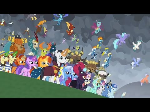 Equestria All Creatures Joins The Final Battle - My Little Pony Season 9  Episode 25