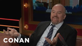 louis c k dancing is the worst possible career choice conan on tbs