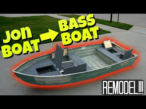11 Foot Jon Boat to Bass Boat FULL MODIFICATION!!!