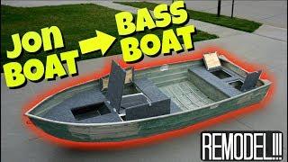 11 Foot Jon Boat to Bass Boat FULL MODIFICATION!!!