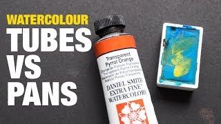 Watercolor Tubes vs Pans