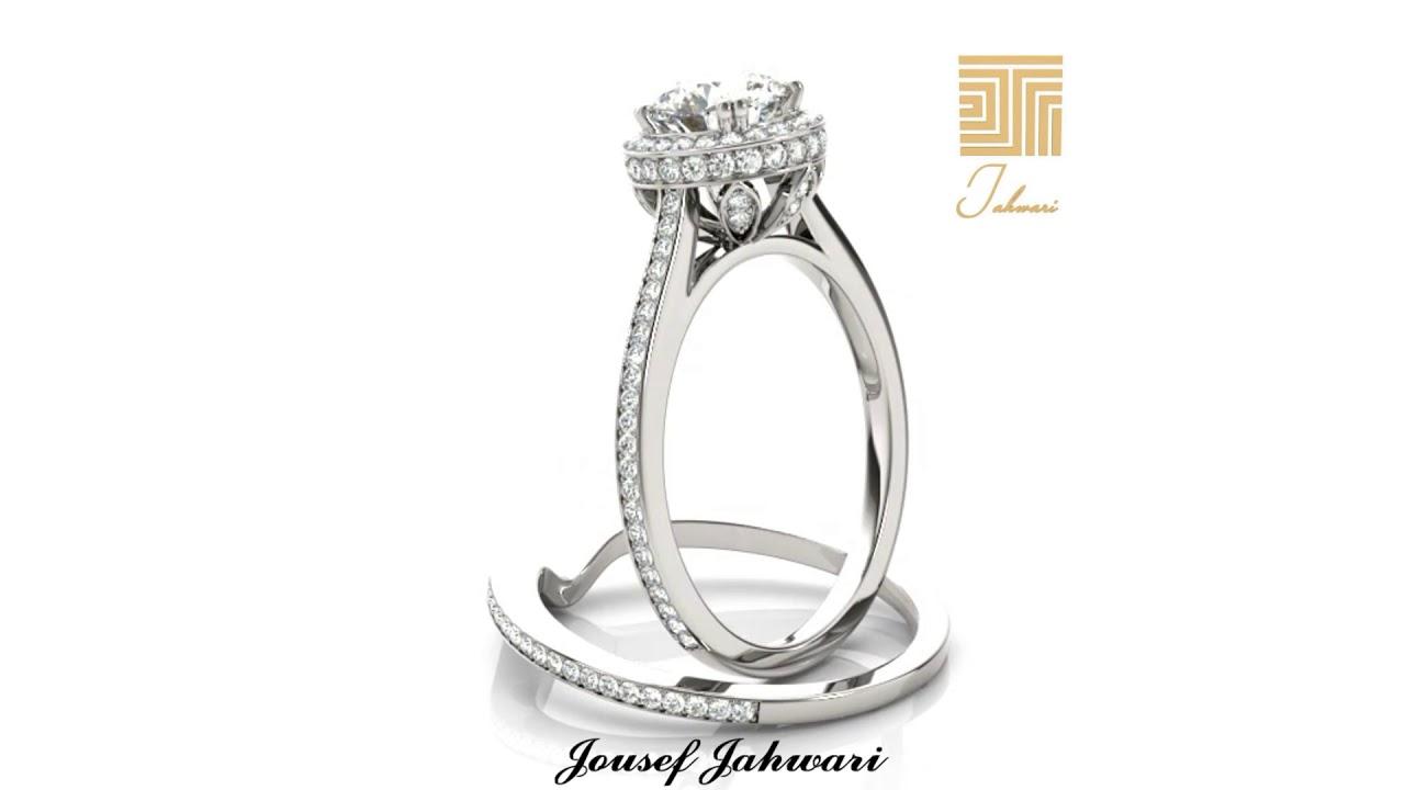 اجمل خاتم الماس ذهب ابيض 2019 Youtube Engagement Rings Rings Jewelry