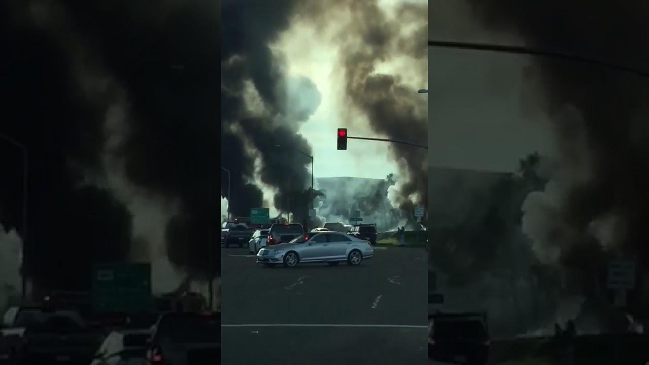 Six injured, six vehicles burned in Fountaingrove crash