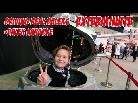 I drive a real Dalek plus Dalek Karaoke (Doctor Who 2016)