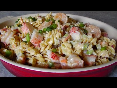 cold shrimp crab pasta salad