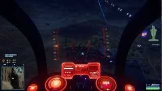 Planetside 2 Closed Beta: Mosquitos keeping the skies clear. Day & night flying.