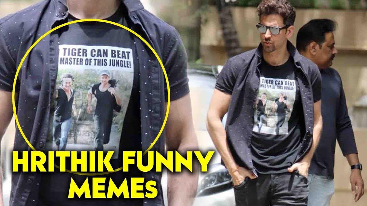 Hrithik Roshan Funny Memes T Shirt On Tiger Shroff War