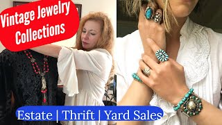 Vintage Estate Jewelry Collection | How to Identify Vintage Jewelry | Turquoise | Silver | Gold