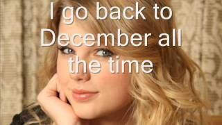 taylor swift-Back To December [karaoke][HD]