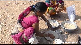 #VILLAGE LADY MAKING CORN FLOUR INDIAN FLAT BREAD | JOWAR MILLET ROTI