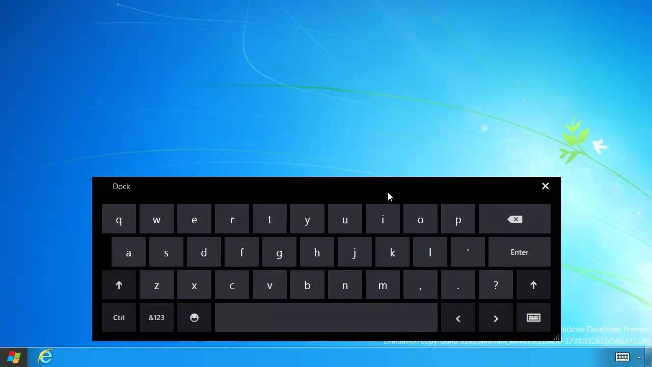Enable virtual on-screen touch keyboard on Windows 8