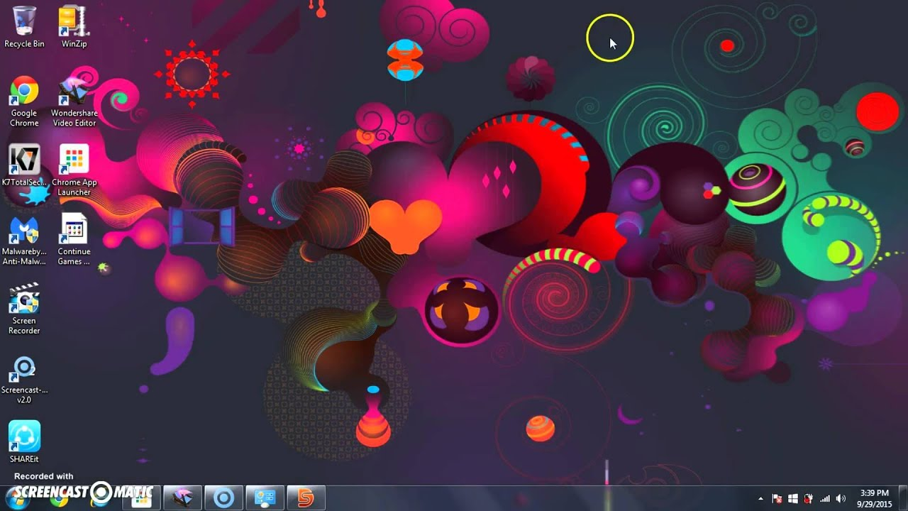 how to make animated desktop wallpapers in windows 788 1 10 using cool wallpaper youtube