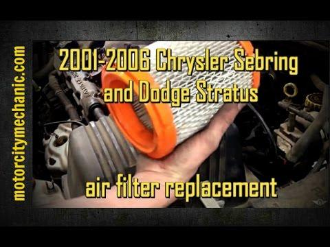 2001-2006 Chrysler Sebring and Dodge Stratus air filter ...