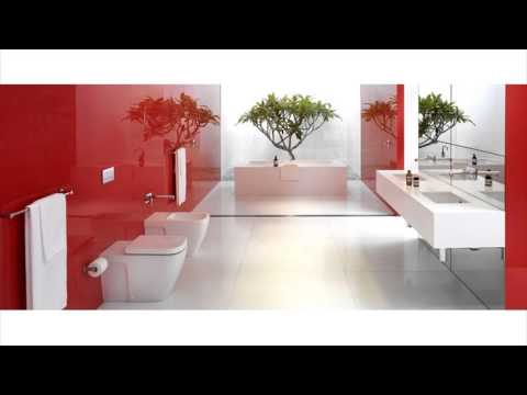 Red Accent Bathroom Ideas