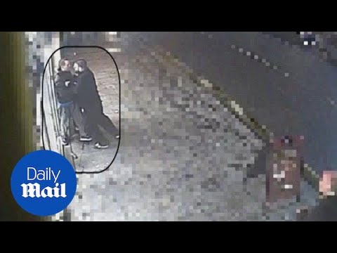CCTV Shows Police DRIVE AWAY As Security Guard Confronts Thief - Daily Mail