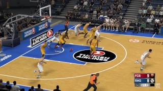 ... a match between fc barcelona and real madrid simulated in nba 2k17. 2k17 is basketball simulation video game d...