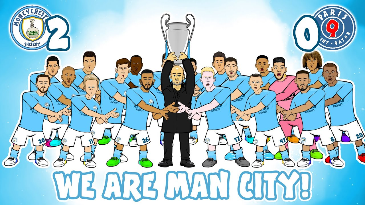 🏆Man City make the Champions League Final!🏆 (We Are Man City vs PSG 2-0 Mahrez Goals Highlights)