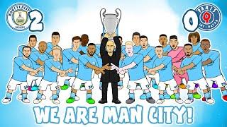 Man City make the Champions League Final We Are Man City vs PSG 2 0 Mahrez Goals Highlights