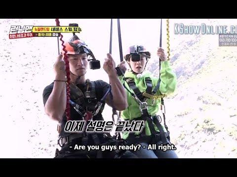 💖  Spartace - Song Ji hyo & Kim Jong kook rides Nevis Swing together ( running man ep 379 )