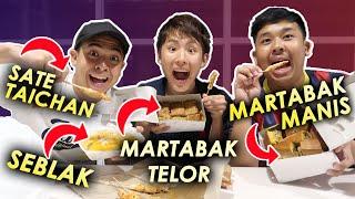 TOMO COBAIN STREET FOOD INDONESIA! (MARTABAK, SEBLAK, DLL)