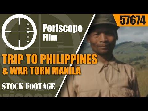 TRIP TO PHILIPPINES & WAR TORN MANILA  16mm HOME MOVIE 1945 / 1946 57674