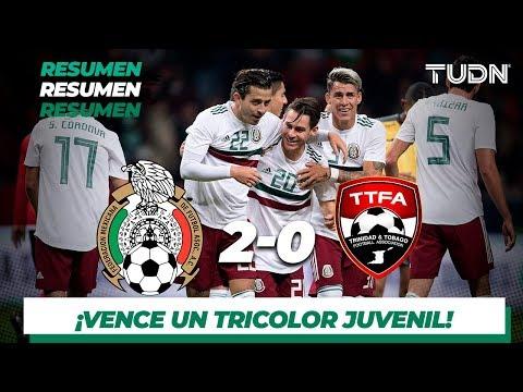 Resumen y Goles | Mexico 2 - 0 Trinidad y Tobago | Amistosos - Internacional | TUDN