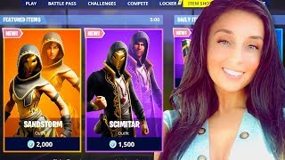 "NEW ""SANDSTORM"" SKINS IN FORTNITE ITEM SHOP! (Fortnite LIVE Gameplay)"