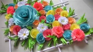DIY. Simple Home Decor. Wall,  Door Decoration. Hanging Flower. Paper Craft Ideas. 39