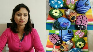 easy rock painting,stone art,diy,rock painting for begainners,anvesha,s creativity