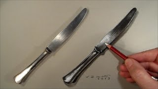 Realism Challenge #4 Drawing a Knife, Time Lapse