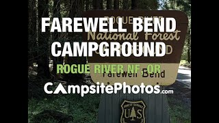 Farewell Bend Campground, Rogue River National Forest, Oregon Campsite Photos