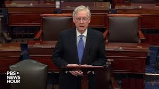 WATCH LIVE: Majority Leader Mitch McConnell speaks on Senate floor after House impeachment vote