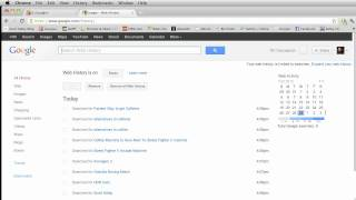 Clearing your Google Web History Before March 1