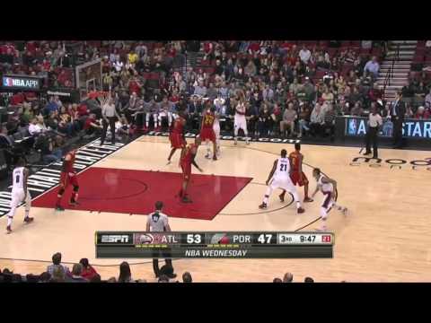 Atlanta Hawks vs Portland Trail Blazers   January 20, 2016   NBA 2015-16 Season