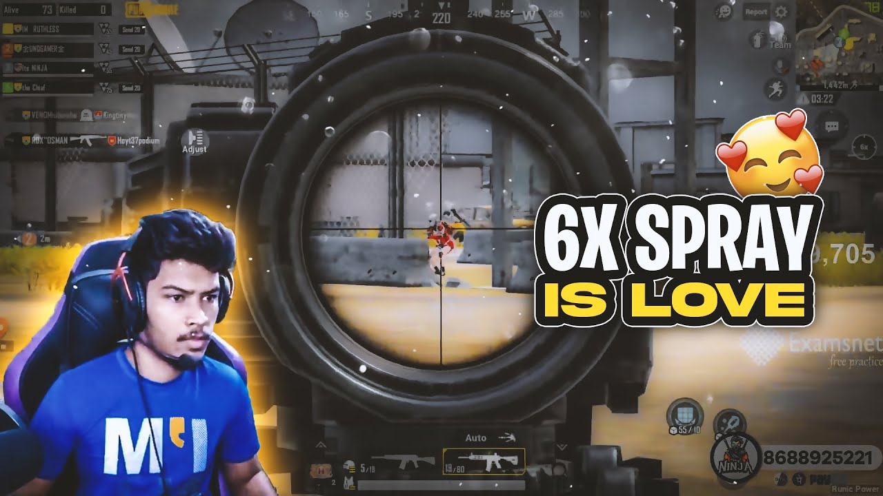 6x is Love ❤ | Pubg Mobile Highlights Its Ninja | Live Streams in Facebook